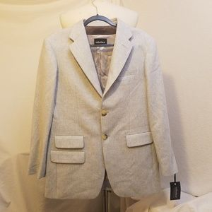 FINAL SABOTEUR Ice Blue Wool Blend Jacket